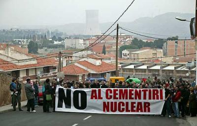 MARCHA CONTRA EL ALMACEN NUCLEAR EN CASTILLA Y LEON