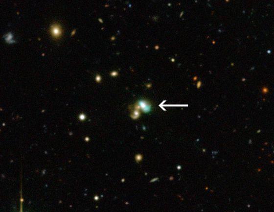Un nuevo tipo de galaxia, y de color verde.