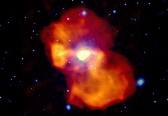 Un agujero negro supermasivo infla una burbuja de tamaño galáctico